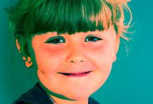 Kinderporträt eingefärbt